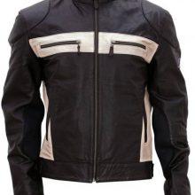 Men's Genuine Lambskin Leather Biker Jacket, Designer Black Fashion Biker Jacket