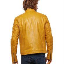 Handmade Mens Road Racer Biker Leather Jacket