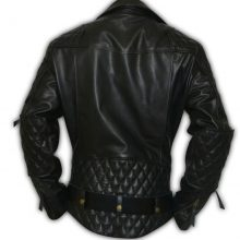 Handmade Men's Columbia Motorbike Quilted Biker Leather Jacket