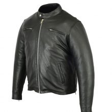 Men's Sporty Cruiser Motorcycle Leather Riding Jackets Biker Gear Daniel Smart