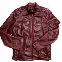 Handmade Biker Leather Jacket, Cafe Racer Jacket, Motorcycle Jacket, Lambskin