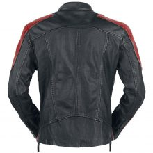 New Handmade Men's Red Black Biker Motorcycle Leather Jacket, Men's Fashion Jacket