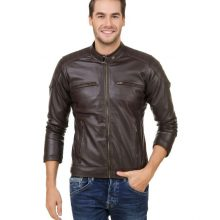 Coolest Looking Made From Genuine Leather Men Biker Leather Jacket