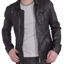 New Men's Designer Cowhide Jacket, Biker Leather Jacket For Men