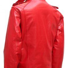 Soft Biker Red Leather Jacket Men
