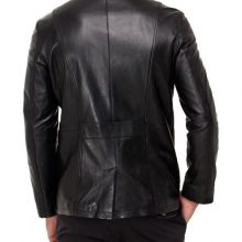 New Men Leather Jacket Brand Genuine Soft Cow Hide Designer Biker Button Jacket