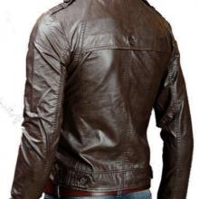 Handmade Men Brown Biker Leather Jacket