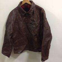 VTG Men's Polo Full-Zip Genuine Leather Jacket Size L Biker Rock Star