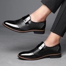 Handmade Men's Fashion British Style Casual Slip on Comfortable Leather Shoes
