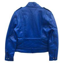 New Handmade Men's Blue Biker Genuine Leather Jacket