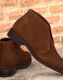 Handmade Suede Chukka Boot For Men