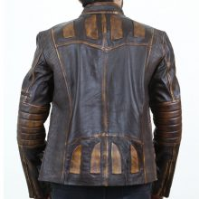 New Handmade Vintage Men's Biker Motorcycle Casual Slim Fit Lambskin Leather Jacket