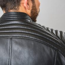 New Handmade Mens Bobber Biker Motorcycle Jacket, Lambskin Leather Jacket,Men's Fashion Leather Jacket