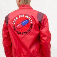New Handmade Mens Akira Kaneda Leather Motorcycle Jacket