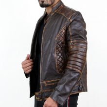 New Handmade Vintage Men's Biker Motorcycle Casual Slim Fit Lambskin Leather Jacket