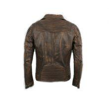 Men's Genuine Cowhide Leather Distressed Vintage Brown Look Handmade Leather Jacket Mens