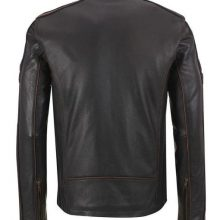New Handmade Men's Cafe Racer Black Leather Jacket