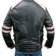 New Handmade Men Cafe Racer Retro Distressed Leather Jacket