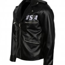 NEW HANDMADE MENS BSA TRIBUTE TO GEORGE MICHAEL MEN'S BIKER LEATHER JACKET