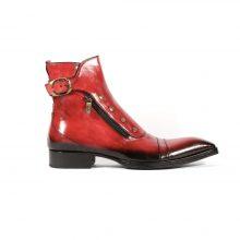 New Handmade Mens Italian Diver Col.Rosso Plato Boots