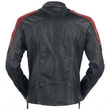 New Handmade Men's Red Black Biker Motorcycle Leather Fashion Jacket