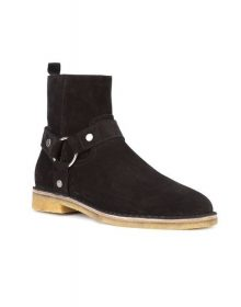 Handmade Men Black Suede Ankle Boot, Mens Casual Suede Leather Boots