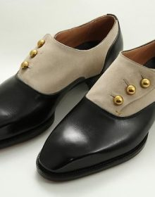 New Men's Handmade Suede Leather with Buttons Plain Pointed Toe Shoes