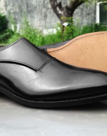 NEW Handmade men's black monk shoes, Formal Shoes men's leather black shoes