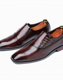 Burgundy Oxford Men's Shoes Premium Quality Leather Derby Toe Lace up Handmade Shoes