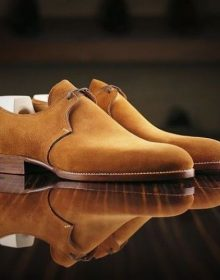 Men Brogue Tan Brown Suede Formal Dreesing Shoes