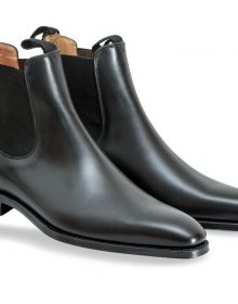 Handmade men genuine leather chelsea boot, Men black ankle boots
