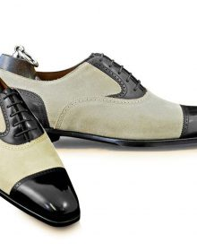 Handmade Black Groom Shoes Cap Toe wedding Leather Formal Oxford Leather Shoes