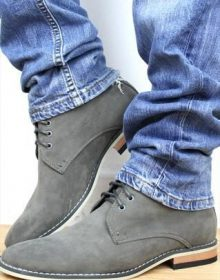 Handmade Men's Gray Color Ankle High Boots, Men's Suede Lace Up Designer Boots