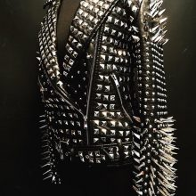 New Handmade Women metal studded spiked black biker Punk jacket Stud and spike jacket party wear fashion
