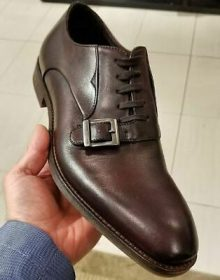 Coffee Brown Monks Men's Single Buckle Premium Quality Leather Handcrafted Shoes