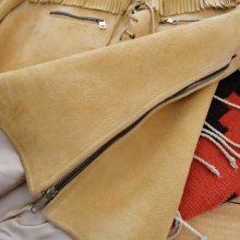 New Handmade Pullover Soft Suede Buckskin Fringe Western Jacket