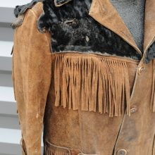 New Handmade Men's Fringe Beat up Bad Ass Moto Bad Boy Hippie Renegade Western Jacket