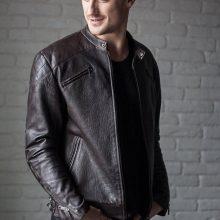 New Handmade Men's Black Biker Leather Jacket