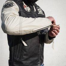 New Handmade Mens Cafe Racer Black Biker Leather Jacket