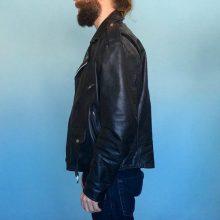 New Handmade Men's Black Leather Motorcycle Jacket