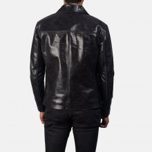 New Handmade Men's Mystical Black Leather Jacket