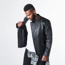 New Handmade Men's Lantz Genuine Leather Motorcycle Jacket