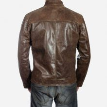 New Handmade Men's Jason Beghe Chicago PD Biker Leather Jacket