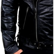 New Handmade Men Ghost Rider Motorbike Leather Jacket with Metal Spikes