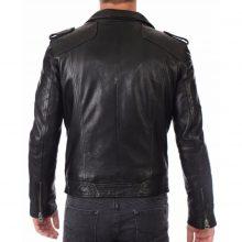 New Handmade Men's Biker Style Motorbike Black Genuine Leather Jacket