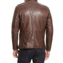 New Handmade Men's Brown Biker Style Motorbike Genuine Leather Jacket