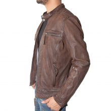 New Handmade Men's Biker Style Genuine Leather Jacket