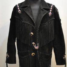 New Handmade Vintage RUNNING BEAR SUEDE fringe men's Indian Western jacket