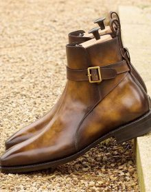 Beautiful Cognac Museum Patina on a pair of Goodyear Welt Jodhpur Boot