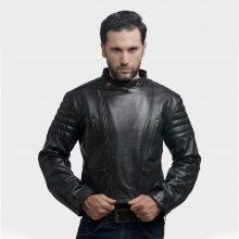 New Handmade Motorcycle Black Mens Leather Jacket